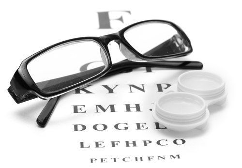 contact lenses or glasses